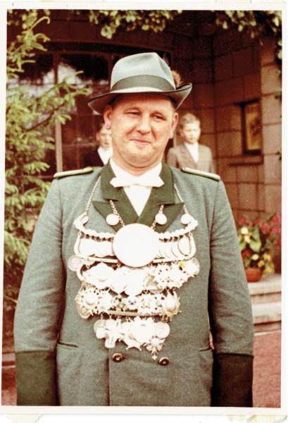Gerd Werres als Schützenkönig 1961