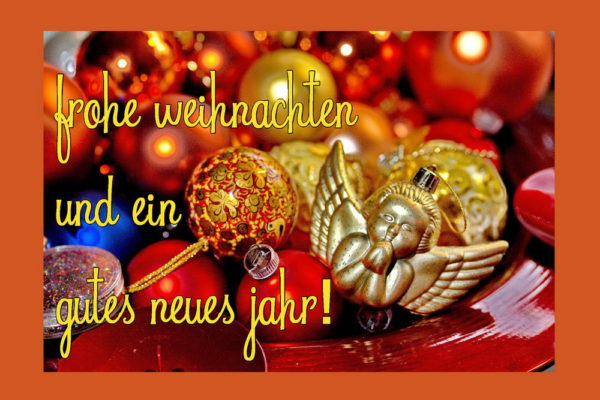 """last minute Weihnachts- und Neujahrskarte """"Frohe Weihnachten"""" Engel"""